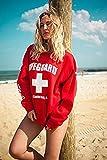 LIFEGUARD Official Ladies Red Crew Neck Sweatshirt