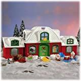 Fisher Price Little People Santa Claus North Pole Christmas Cottage by Little People