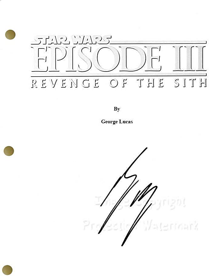 Ewan Mcgregor Star Wars Revenge Of The Sith Episode Iii Signed Autographed Pulp Fiction Script Print At Amazon S Entertainment Collectibles Store