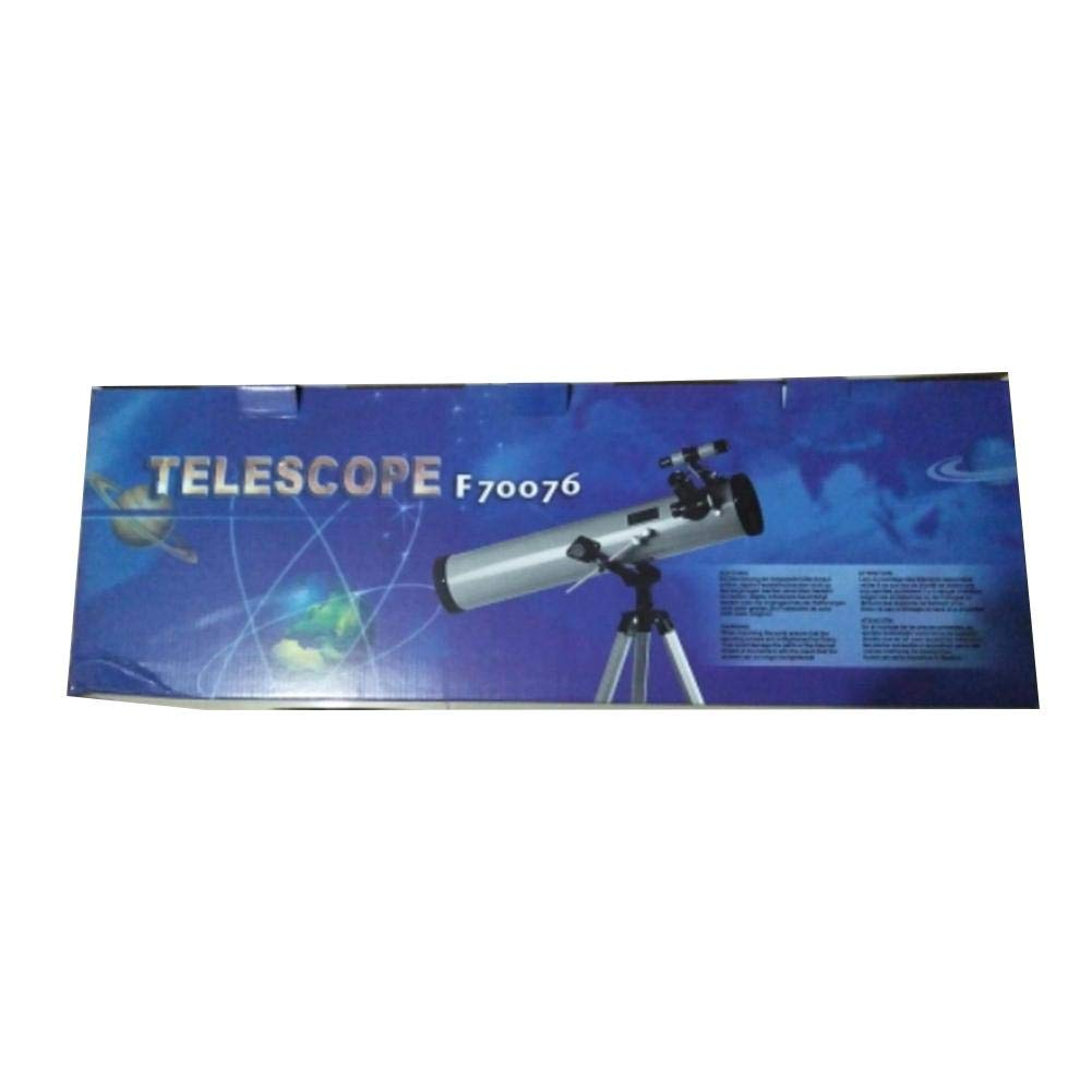 Leiyini Student Portable Telescope Outdoor 1.5 Times Magnification Mirror Telescope Astronomy 2 Times Barlow Large Diameter with Tripod Silver Single Cylinder Telescope by Leiyini (Image #6)