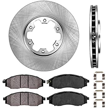 00-04 Xterra 03 04 Frontier 4WD Ceramic Pads /& Brake Shoes CD830 BS631 17328