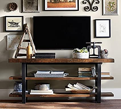 WGX Design For You 50 Industrial Solid Wood TV Stand Console Coffee Table