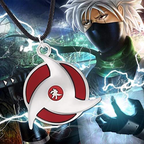 TUDUDU Moda Clásico Anime Naruto Colgante Ninja Uchiha ...