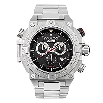 Mulco Buzo Dive Quartz Swiss Chronograph Movement Mens Watch | Premium Analog Display with Steel Accent
