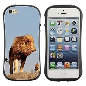 Suave TPU GEL Carcasa Funda Silicona Blando Estuche Caso de protección (para) Apple Iphone 5 / 5S / CECELL Phone case / / nature cute mother mom mommy lion /