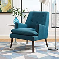 Modway EEI-3048-TEA Leisure Upholstered Lounge Chair, Teal