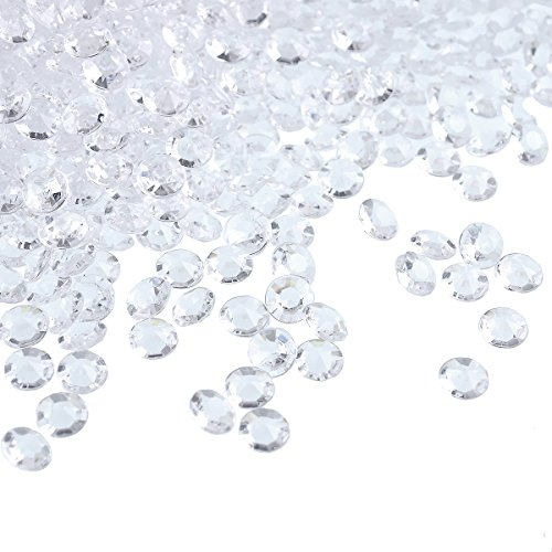 craftjoje 4.5MM 10000pcs Wedding Table Scattering Crystals Acrylic Diamonds Wedding Bridal Shower Party Decorations Vase Fillers (4.5mm, Clear)