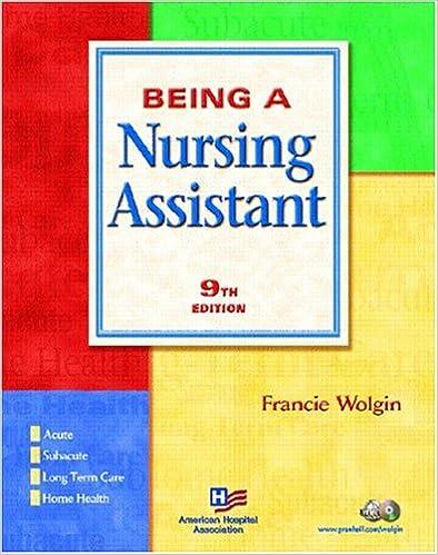 Being a Nursing Assistant/Workbook