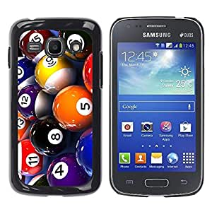 Impact Case Cover with Art Pattern Designs FOR Samsung Galaxy Ace 3 Pool Billiard Balls Colorful Numbers Game Art Betty shop
