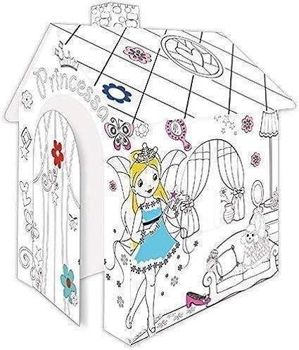 Casa de Juegos de Cartón Princesa Casa de Cartón para Pintar Casa Juguete de Cartón
