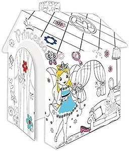 Casa de Juegos de Cartón Princesa Casa de Cartón para Pintar Casa ...