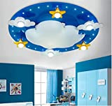 Warm cartoon bedroom ceiling lamp cute clouds children 's room ceiling, 550 120mm