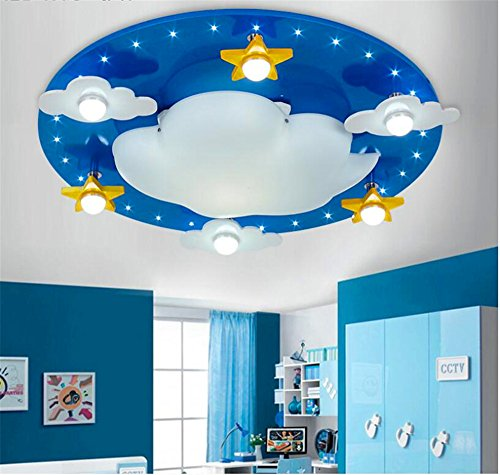 Warm cartoon bedroom ceiling lamp cute clouds children 's room ceiling, 550 120mm by Bore bore mi