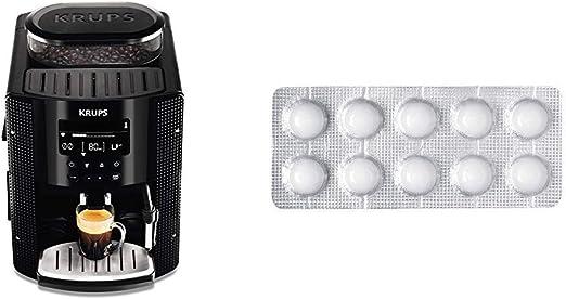 Krups EA815070 - Cafetera Automática 15 Bares de Presión, Pantalla LCD, 3 Niveles de Intensidad, Ajustable de 20 ml a 220 ml + Espresseria Automatic Pastillas limpiadoras para maquinas de café, Blanco: Amazon.es: Hogar
