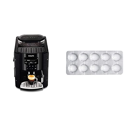 Krups EA815070 - Cafetera Automática 15 Bares de Presión, Pantalla LCD, 3 Niveles de Intensidad, Ajustable de 20 ml a 220 ml + Espresseria Automatic ...