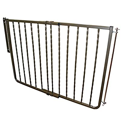 Cardinal Gates Wrought Iron Décor Pet Gate