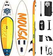 Mousa Inflatable Paddle Board, SUP with Camera Mount, 3-Fin Floating Paddleboard Non Slip Deck, Waterproof Pho