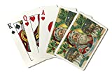 Christmas Greetings from Oregon - Santa and Reindeer (Playing Card Deck - 52 Card Poker Size with Jokers)