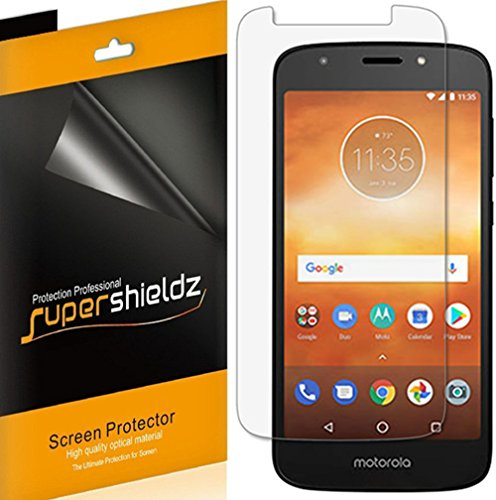 [6-Pack] Supershieldz for Motorola (Moto E5 Play) Screen Protector, High Definition Clear Shield + Lifetime Replacement