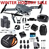 DJI Mavic Pro Fly More Combo Safety Bundle, extra 80 cm Portable landing pad and TFStoys Lens Hood, Landing Gear and More