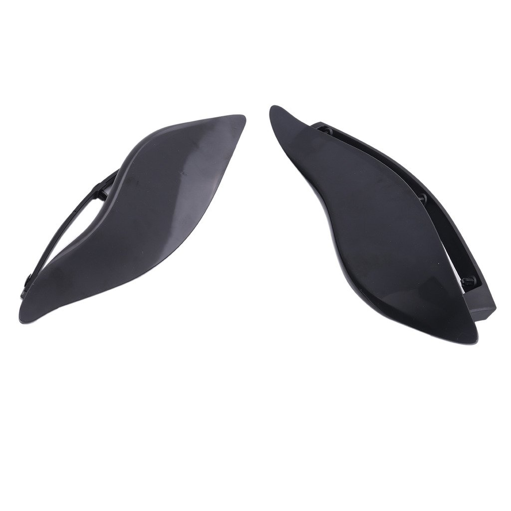 BuyInHouse 2 Pcs Black ABS Plastic Side Wings Air Deflectors For Harley touring Street Glide 2014-2017
