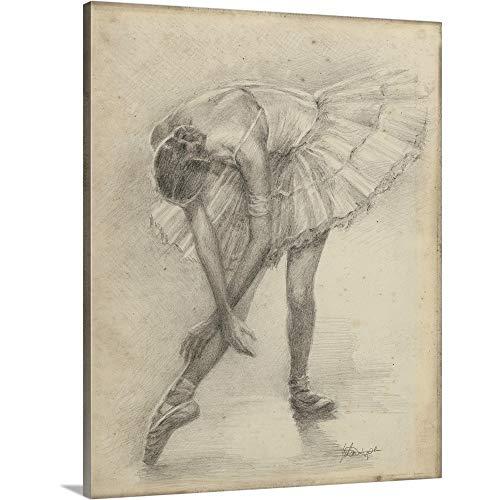 Ethan Harper Premium Thick-Wrap Canvas Wall Art Print entitled Antique Ballerina Study II 11''x14'' by CANVAS ON DEMAND