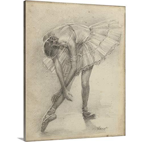 Ethan Harper Premium Thick-Wrap Canvas Wall Art Print entitled Antique Ballerina Study II 11''x14'' by CANVAS ON DEMAND