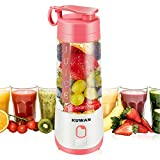 KUWAN Mini Electric Fruit Juicer Rechargeable portable Blender with USB...