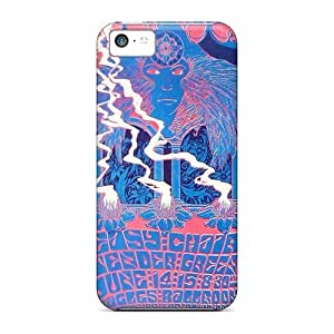 Shock-Absorbing Hard Phone Cases For Apple Iphone 5c With Allow Personal Design Vivid Grateful Dead Pictures ElijahFenn