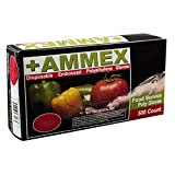 AMMEX - PGLOVE-500 - Poly Gloves - Food Service, Rubber Free, 1 mil, Small, PGLOVE-S-500-BX (Box of 500)