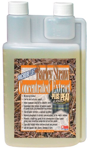 Microbe Lift Barley Straw (Microbe Lift 32-Ounce Pond Barley Straw Concentrate Plus Peat Extract Concentrate BSEP32)