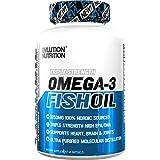 Evlution Nutrition Omega 3 Fish Oil 1250mg   HIGH EPA 450mg + DHA 300mg Triple Strength Burpless Capsules   60 Pills