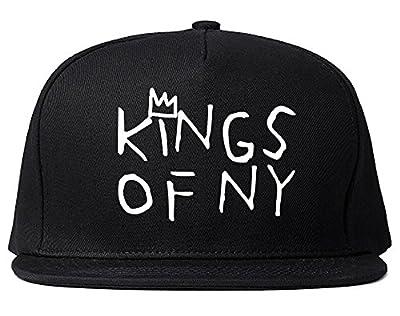 Kings Of NY Crown Basq Art Logo Tee Snapback Hat Cap