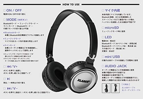 XLARGE Bluetooth ヘッドホン BOOK 画像 C