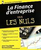 La finance d'entreprise pour les nuls by Jean-Yves Eglem (2016-04-28)