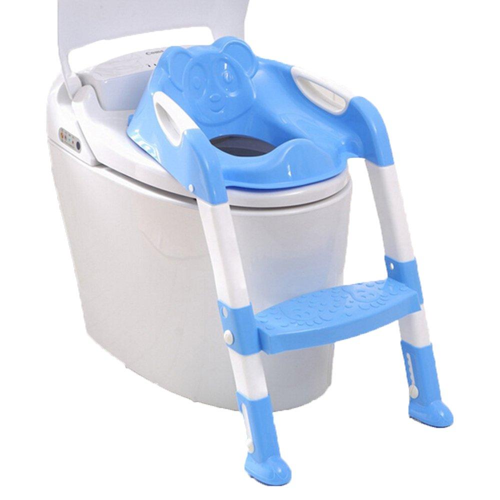 Enfants Bébé Potty Seat Avec Ladder Enfants Pliage Potty Chaise Formation Portable et Durable (Rose) QIANGUANG