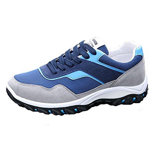 Interior Fitness Sportive Scarpe Blu Casual Running Corsa Sneakers Hibote Uomo All'aperto CFqw00