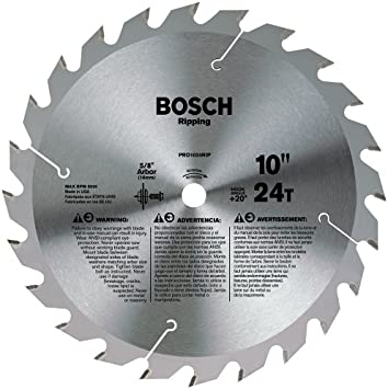 Bosch Pro1024rip 10 In 24 Tooth Ripping Circular Saw Blade Table Saw Blades Amazon Com