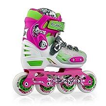 Unisex Children's Adjustable Inline Skates Hard-vamp, Small
