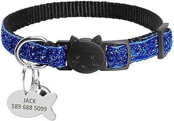 M Zimo 1 pz Cat Dog Tag ID Incisione Gratuita Collare per Cane Pet Nome Collana Ciondolo Collare Cucciolo Gatti Collare Accessorio Pesce Bianco