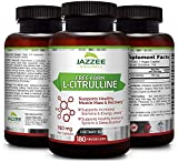 Free-Form L-Citrulline Malate | 750 mg | 180 Veggie Capsules | 6-Month Supply | Vegetarian/Vegan | Stabilized Organically | Supports Endurance, Stamina, and Energy