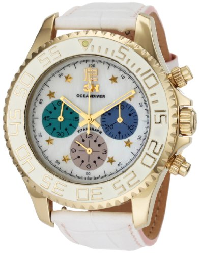 3H Women's CH1M Tintangraph Titanium Gold PVD Chronograph Interchangeable Band Watch
