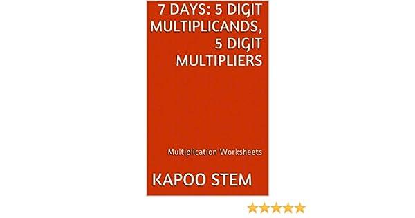 7 Multiplication Worksheets with 5-Digit Multiplicands, 5-Digit ...