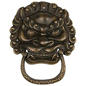 Gnashing Teeth Lion Door Pull 6.1'' - Set of 2 by Chinese Brass Hardware