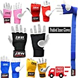Gel Padded Inner Gloves with Hand Wraps for MMA Boxing Muay Thai Wrist Supports hand Bandages Training Mitts Gloves Pair New