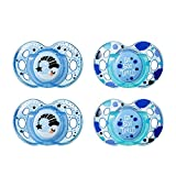 Tommee Tippee Closer to Nature Night Time Orthodontic Toddler Soothie Pacifier, 18-36 Months - Blue, 4 Pack