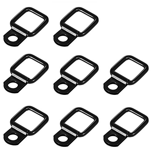 8 Pack Tie-down D-rings Jeep Tie Downs Anchors for Jeep Wrangler Trunk Cargo Net Tie Down Strap Stainless Heavy Duty