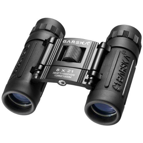 BARSKA Lucid 8x21 Compact Binocular (Black)