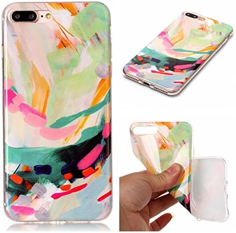 FNBK iPhone 7 Plus Silicone Case Ink Painting Design Ultra Slim Shockproof Soft TPU Embossed Lace Pattern Gel Bumper Back Cover for iPhone 7 Plus
