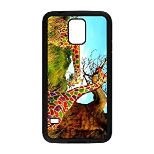 Nymeria 19 Customized Girly Whimsical Giraffe Bright Diy Design For Samsung Galaxy S5 Hard Back Cover Case DE-450